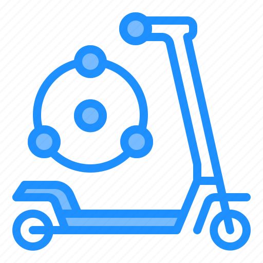 commuter, scooter, sharing, technology, transportation icon