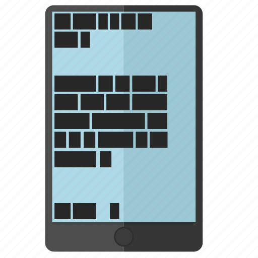article, chat, coding, ipad, message, reading, screen, text icon