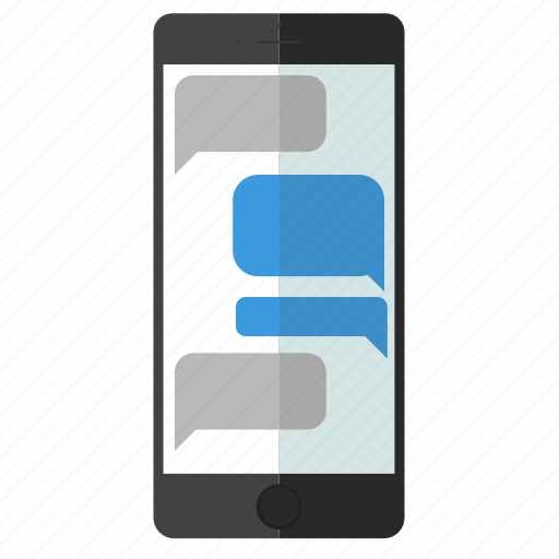 iphone, message, mobile, phone, screen, sms, texting icon
