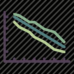 agile, burndown chart, chart, diagram, graph, scrum, team icon