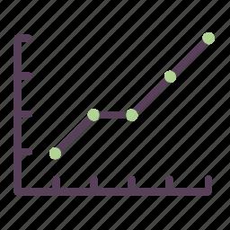 chart, development, diagram, graph, project, scrum, velocity icon