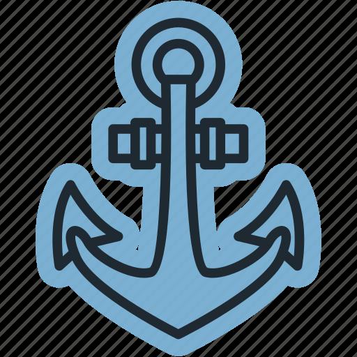 beach, boat, mỏ neo, ocean, sea, ship icon