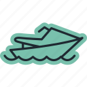 boat, cano, sea, ship, shipping icon