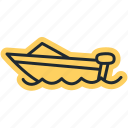 cano, ocean, sea, ship, travel, vacation icon