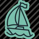sea, boat, ocean, ship, travel