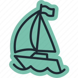 boat, ocean, sea, ship, travel icon