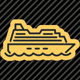 ocean, sea, ship, shipping icon