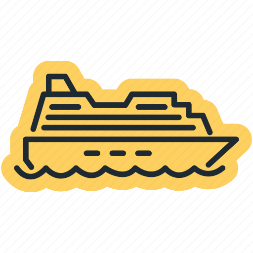 ocean, sea, ship, shipping icon