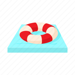 belt, cartoon, emergency, help, lifebuoy, protection, swim icon