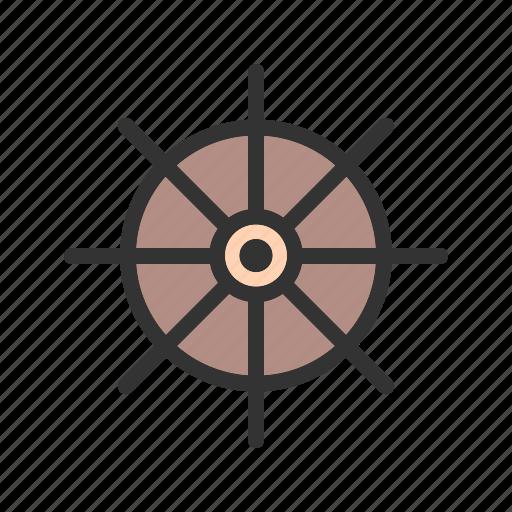direction, nautical, rudder, ship, ships, steering, wheel icon