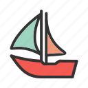 boat, cruise, marine, rope, sea, ship, travel icon