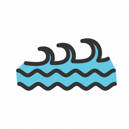 Blue, ocean, surf, surfing, water, wave, waves icon | Icon ...