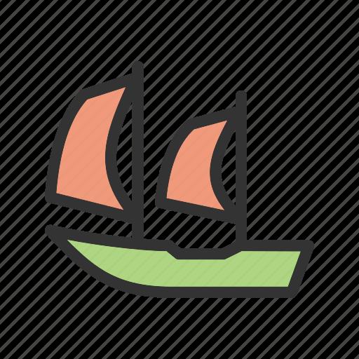 boat, cruise, marine, rope, sea, ship, travel icon