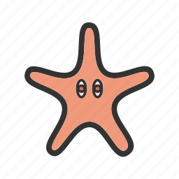 beach, blue, nature, ocean, sea, starfish, summer icon