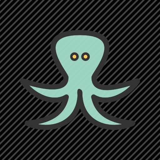 nature, ocean, octopus, sea, underwater, wild, wildlife icon