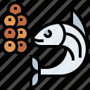 animal, animals, aquarium, aquatic, caviar, life, sea icon