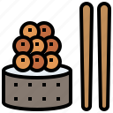 caviar, fish, food, japanese, maki, raw, restaurant, rice, sushi icon