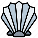 animals, food, life, mollusk, ocean, restaurant, scallop, sea, shellfish, shells icon