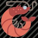 animal, food, life, sea, seafood, shellfish, shrimp icon