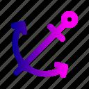 anchor, boat, ocean, sea, ship, travel