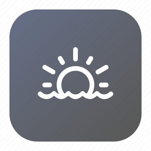 holiday, nature, sea, sunset, view icon