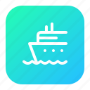 boat, cruise, ocean, sea, ship, travelling