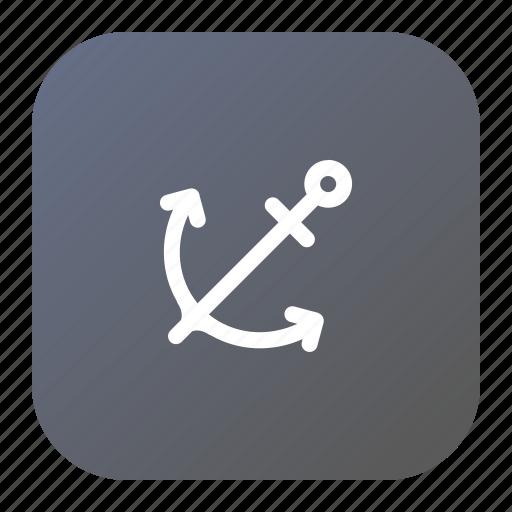 anchor, boat, ocean, sea, ship, travel icon