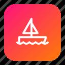 boat, fun, ocean, seiling, ship, sport, travel icon