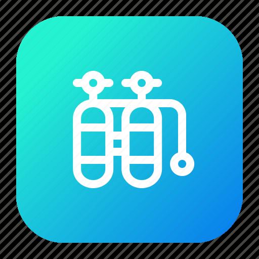 Diver, diving, oxygen, scuba, tank icon - Download on Iconfinder