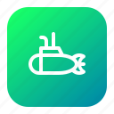 nautical, ocean, sea, ship, submarine, underwater icon