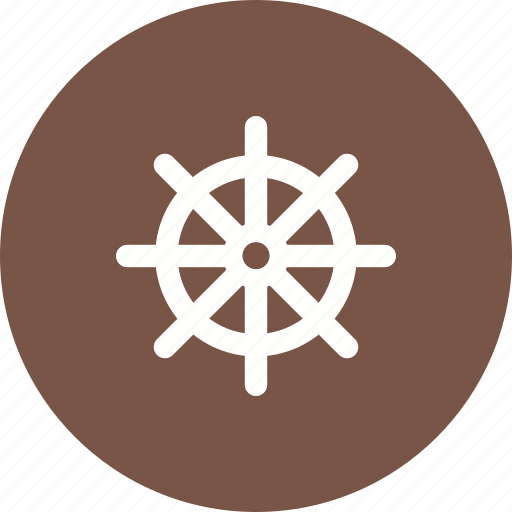 direction, nautical, rudder, ship, ships, steering, wheel icon