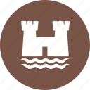 beach, castle, holiday, sand, sandcastle, summer, sun icon