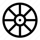 outline, round, sea, transportation, wheel, wood icon