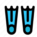 diving, fins, scuba, snorkeling icon