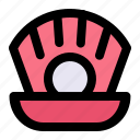 diamond, ocean, pearl, sea, shell icon