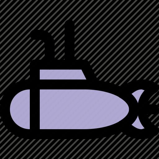nautical, ocean, sea, ship, submarine, underwater icon