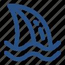 dangerous, fin, ocean, predator, sea, shark, shark fin icon
