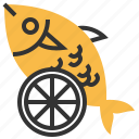 animal, fish, food, lime, seafood icon