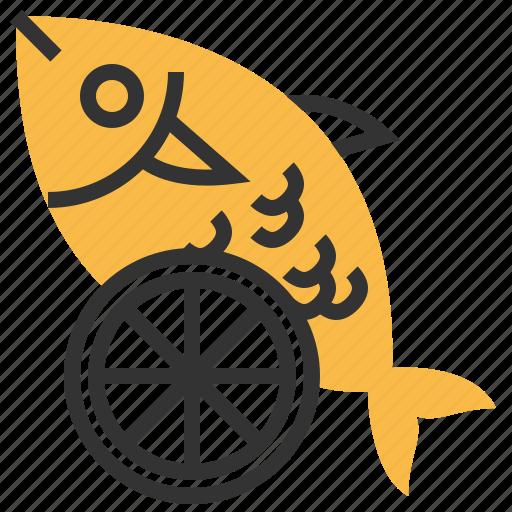 animal, fish, food, lime, seafood icon
