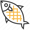 fish, grilled, animal, food icon