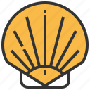 animal, food, seafood, shell, shells icon