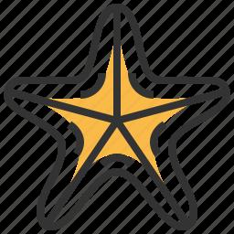 animal, food, seafood, starfish icon