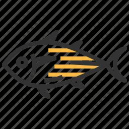 animal, food, kitchen, seafood, tuna icon
