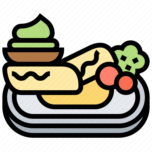 cramp, dinner, fish, plate, steak icon