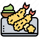 ebi, fry, japanese, shrimp, tempura icon