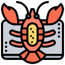 crustacean, culinary, delicious, lobster, restaurant icon