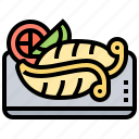 cooked, cuisine, octopus, seafood, tentacle icon
