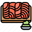 culinary, fillet, salmon, sashimi, seafood icon