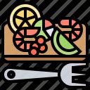 fork, healthy, salad, seafood, shrimps icon