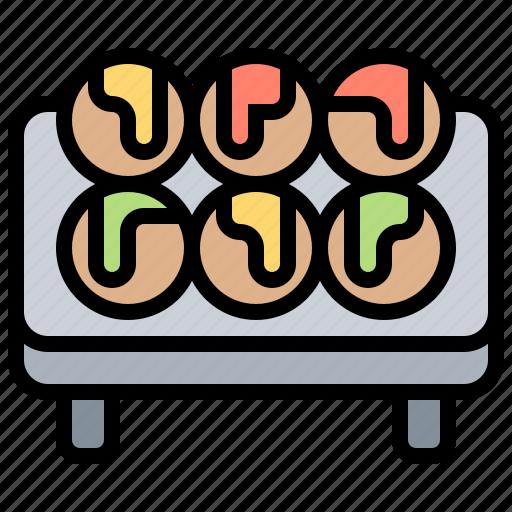 balls, cuisine, japanese, octopus, takoyaki icon
